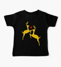 ۞»♥Adorable Jumping Deer Couple Clothing & Stickers♥«۞ Baby Tee