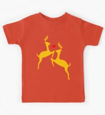 ۞»♥Adorable Jumping Deer Couple Clothing & Stickers♥«۞ Kids Tee