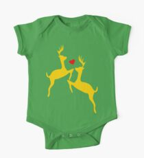۞»♥Adorable Jumping Deer Couple Clothing & Stickers♥«۞ One Piece - Short Sleeve