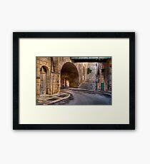 Leaving Victoria Gate --- Valletta, Malta Framed Print