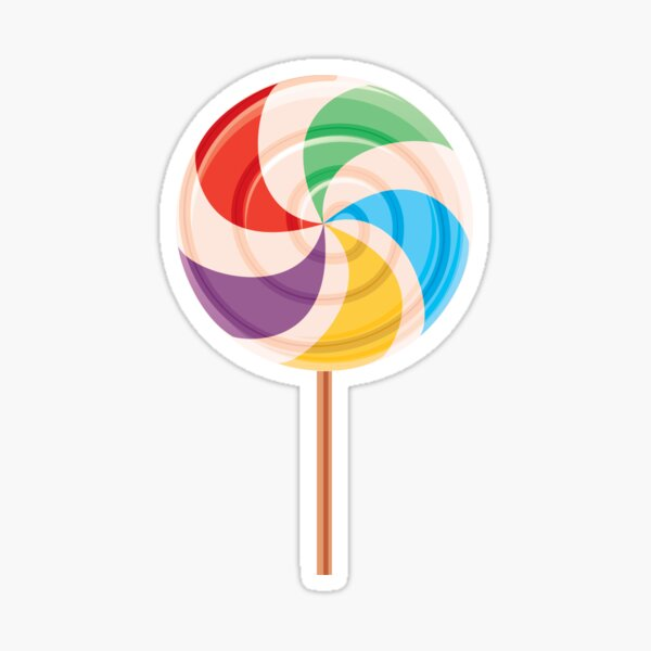 Colorful Lollypop on White Sticker