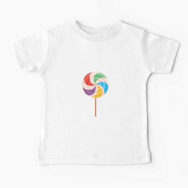 Colorful Lollypop on White Baby T-Shirt