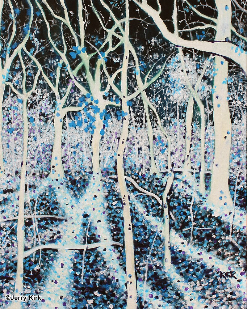'THE MOON GRANTS SHADOWS TO WOODS THAT SING'   by Jerry Kirk