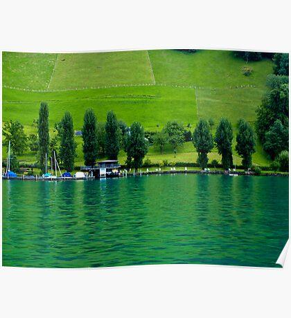 Green Lake Locarno (Swiss)  VRS2 Poster