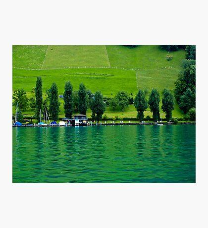 Green Lake Locarno (Swiss)  VRS2 Photographic Print