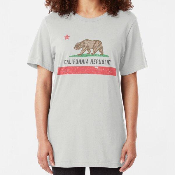 Vintage California Flag Slim Fit T-Shirt