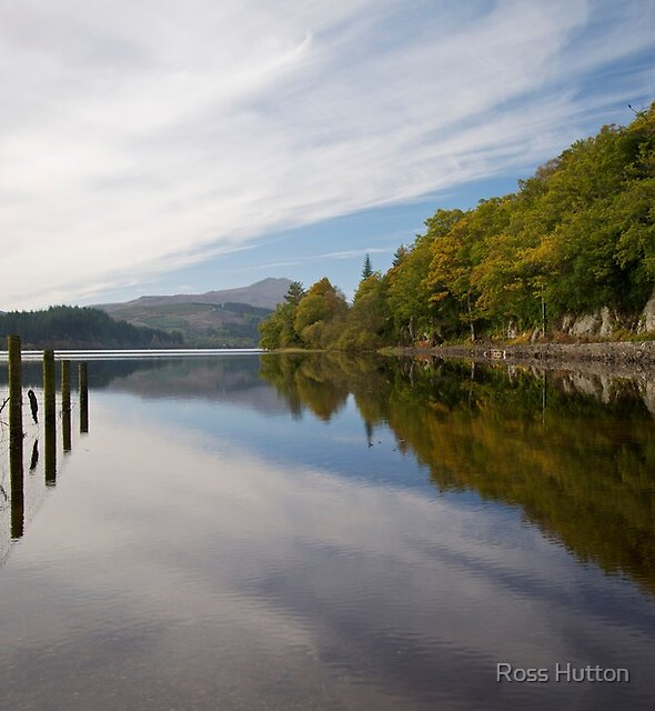 Loch Ard and Ben Lomond, Scotland. by Ross Hutton