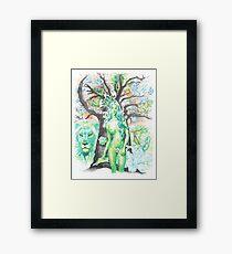 Earth ( tree nymph ) / pen Framed Print