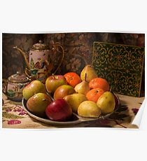 Still life - bowl of fruit. Poster