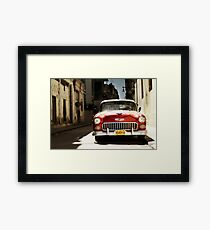 car in havana Framed Print