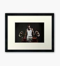 hunky gramophone dj Framed Print
