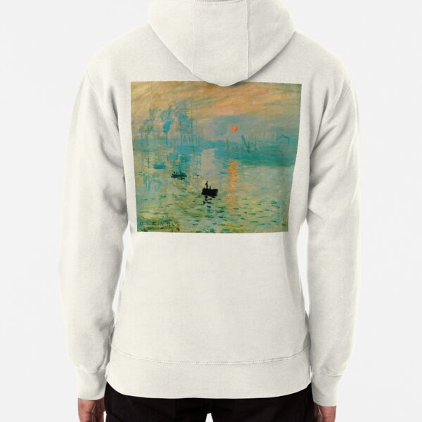 'Impression Soleil Levant' - 'Impression Sunrise' by Claude Monet Pullover Hoodie