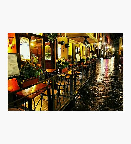 A Cafe in Florence Photographic Print