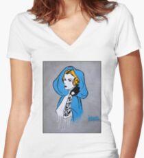 Princess Leia Graffiti Women's Fitted V-Neck T-Shirt