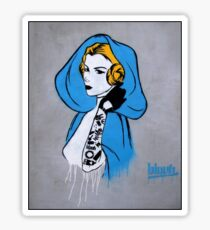 Princess Leia Graffiti Sticker