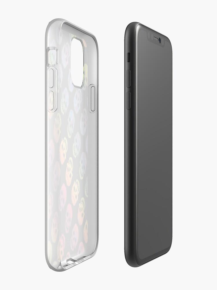 Alternate view of Rainbow Skulls Design- 2020 iPhone Case & Cover