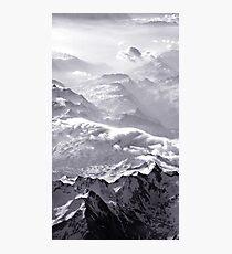 Clounds crawling over MountainTops  VRS2 Photographic Print