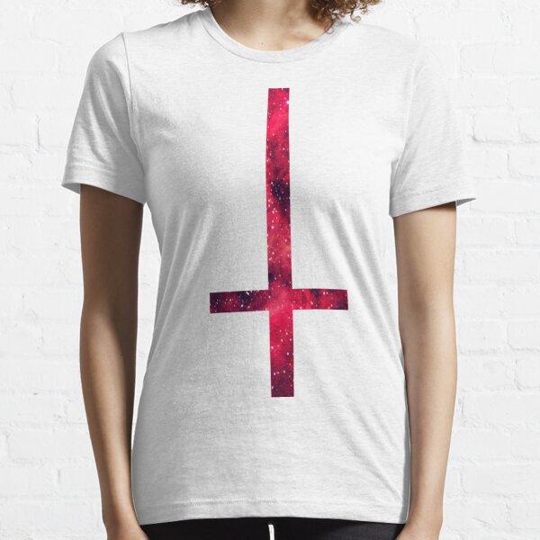 Goth Upsidedown Gothic Cross Girls Tee