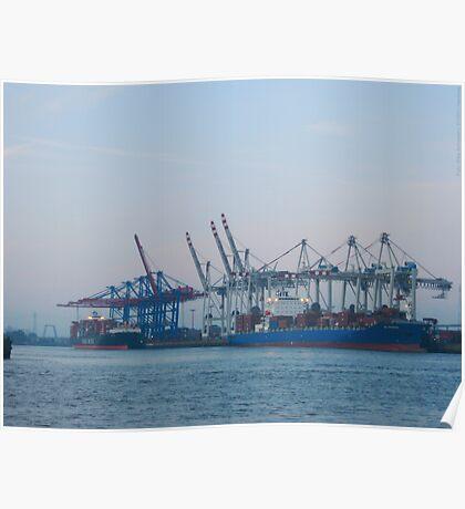 Hamburg Container Harbor (Germany) VRS2 Poster