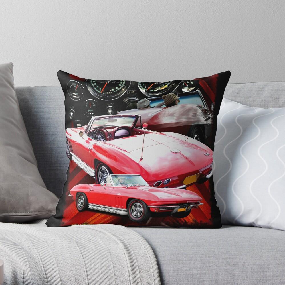 Corvette Classic 1966 Throw Pillow