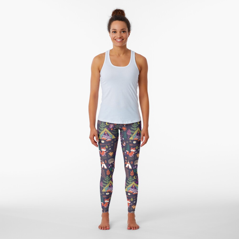 Woodland Animals Campout Leggings