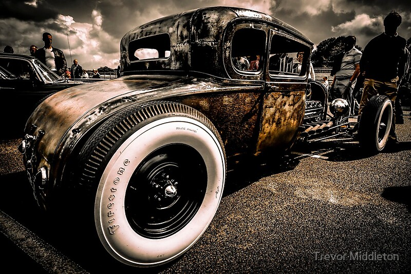 Quot Rat Rod Quot Posters By Trevor Middleton Redbubble