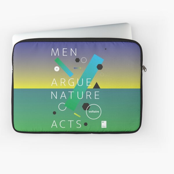 Men argue, nature acts Laptop Sleeve