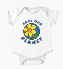 """Earth Day """"Save Our Planet"""" One Piece - Short Sleeve"""