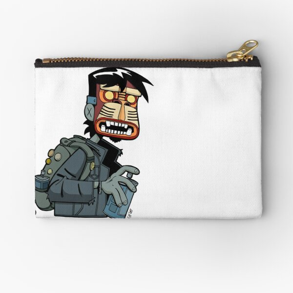 Zombie Graffiti Writer Zipper Pouch