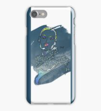 one line lady iPhone Case/Skin