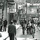 Urban Living in San Francisco- Chinatown Street Scene by Buckwhite