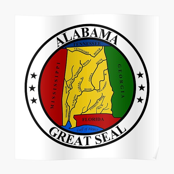 Alabama AL Official State Seal Poster
