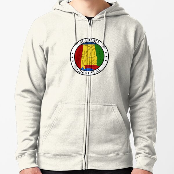 Alabama AL Official State Seal Zipped Hoodie