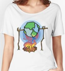 Global Warming Earth Day Women's Relaxed Fit T-Shirt