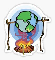 Global Warming Earth Day Sticker