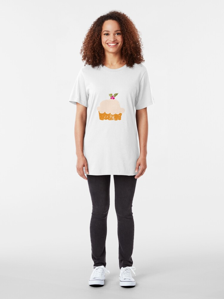 Alternate view of Sweet Cupcake Slim Fit T-Shirt