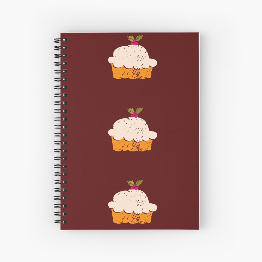 Sweet Cupcake Spiral Notebook