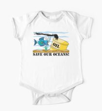 """Earth Day """"Save Our Oceans"""" Baby Body Kurzarm"""