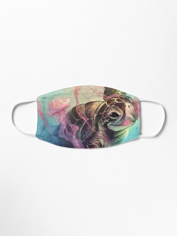 Alternate view of Sea Turtle and Jellyfish! Mask