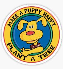 "Earth Day ""Make A Puppy Happy - Plant A Tree"" Sticker"