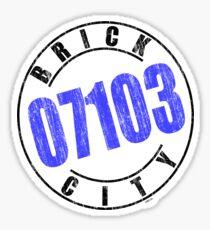 'Brick City 07103' Sticker
