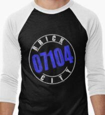 'Brick City 07104' (w) Men's Baseball ¾ T-Shirt