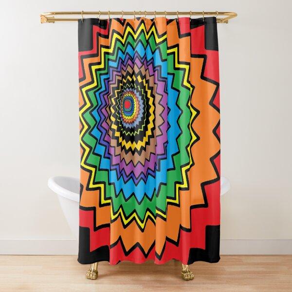 Multicolor Star Shower Curtain