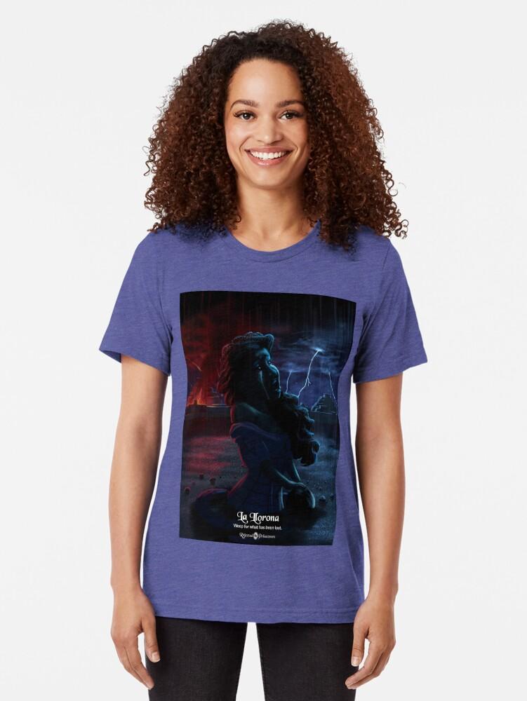 Alternate view of La Llorona - Rejected Princesses Tri-blend T-Shirt