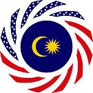 Malaysian American Multinational Patriot Flag Series by Carbon-Fibre Media