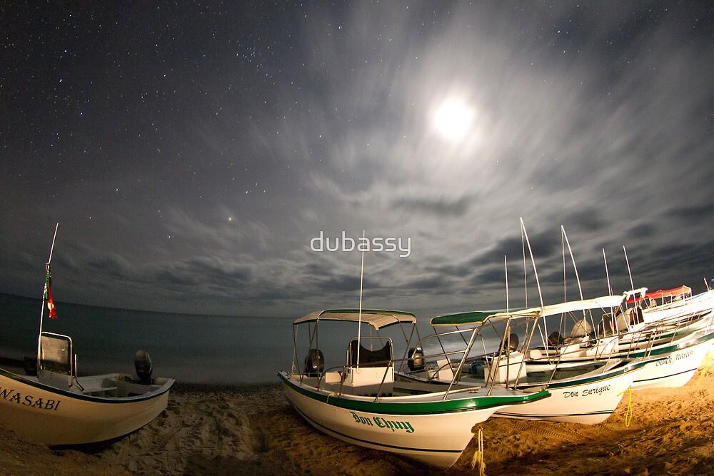 stars at night of the ocean, baja california sur, mexico by dubassy