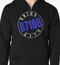 'Brick City 07108' (w) Zipped Hoodie