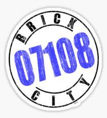 'Brick City 07108' Sticker