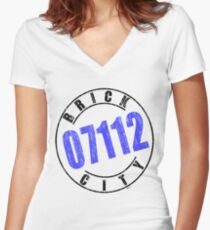 'Brick City 07112' Women's Fitted V-Neck T-Shirt