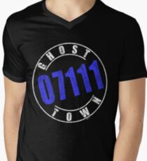 'Ghost Town 07111' (w) Mens V-Neck T-Shirt